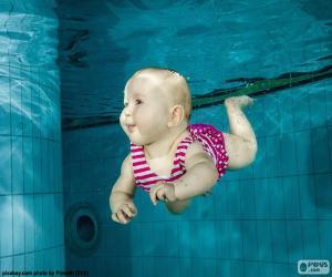 Rompicapo di Baby nuoto