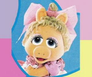 Rompicapo di Baby Piggy, il muppet baby Miss Piggy