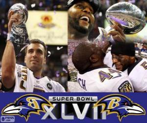 Rompicapo di Baltimore Ravens Campioni Super Bowl 2013