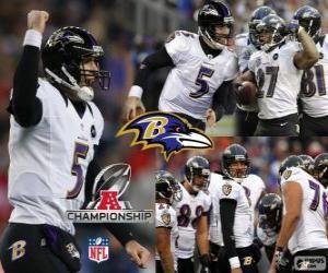 Rompicapo di Baltimore Ravens il campione AFC 2012