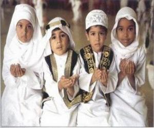 Rompicapo di Bambini che Du'a, una supplica in Islam