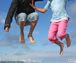 Rompicapo di Bambini che saltano