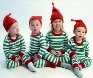 Rompicapo di Bambini vestiti per Natale