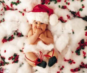 Rompicapo di Bambino con cappello di Babbo Natale