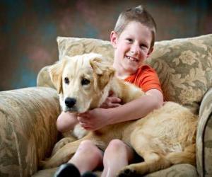 Rompicapo di Bambino con il suo cane