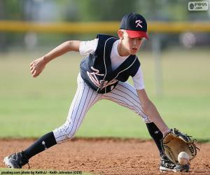 Rompicapo di Bambino gioca a baseball