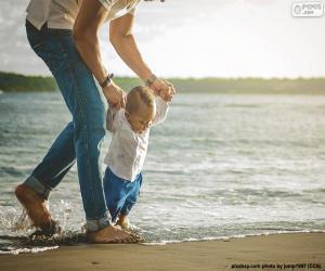 Rompicapo di Bambino in riva al mare