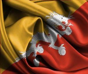 Rompicapo di Bandiera del Bhutan