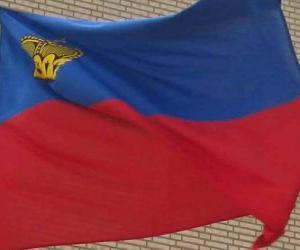 Rompicapo di Bandiera del Liechtenstein
