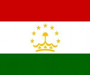 Rompicapo di Bandiera del Tagikistan