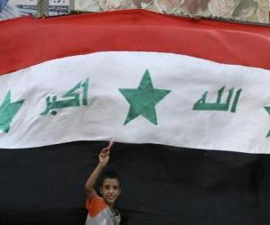 Rompicapo di Bandiera dell'Iraq o Irak