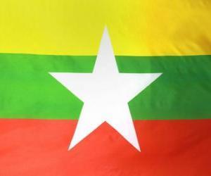Rompicapo di Bandiera della Birmania