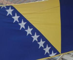 Rompicapo di Bandiera della Bosnia-Erzegovina