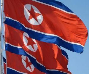 Rompicapo di Bandiera della Corea del Nord