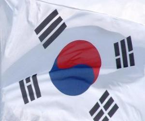 Rompicapo di Bandiera della Corea del Sud