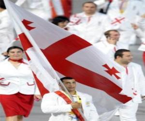 Rompicapo di Bandiera della Georgia