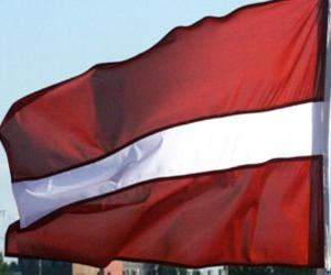 Rompicapo di Bandiera della Lettonia