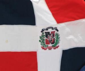 Rompicapo di Bandiera della Repubblica Dominicana