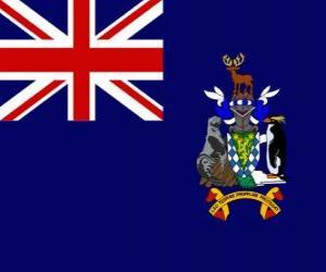 Rompicapo di Bandiera delle isole della Georgia del sud e Sandwich del sud