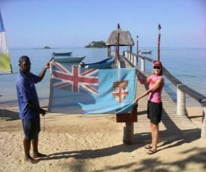Rompicapo di Bandiera delle isole Figi