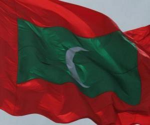 Rompicapo di Bandiera delle Maldive