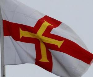 Rompicapo di Bandiera di Guernsey