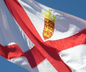 Rompicapo di Bandiera di Jersey