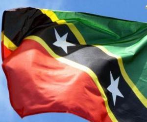 Rompicapo di Bandiera di Saint Kitts e Nevis