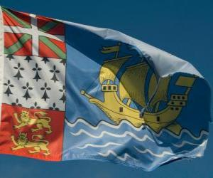 Rompicapo di Bandiera di Saint Pierre e Miquelon