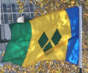 Rompicapo di Bandiera di Saint Vincent e Grenadine
