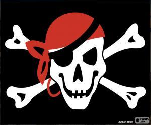 Rompicapo di Bandiera pirata Jolly Roger