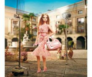 Rompicapo di Barbie attrice le riprese di un annuncio