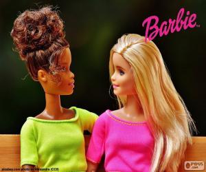 Rompicapo di Barbie con la sua amica