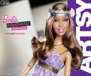 Rompicapo di Barbie Fashionista Artsy