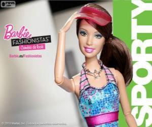 Rompicapo di Barbie Fashionista Sporty