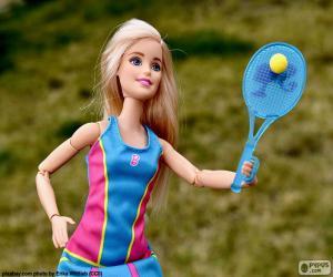 Rompicapo di Barbie giocare a tennis