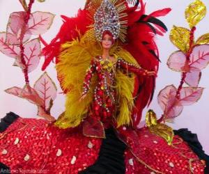 Rompicapo di Barbie in carnevale