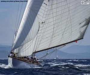 Rompicapo di Barca a vela che naviga