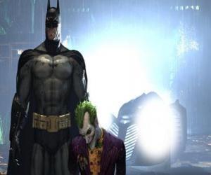 Rompicapo di Batman arrestato il suo nemico, il Joker