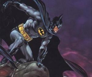Rompicapo di Batman che controlla la città di Gotham City