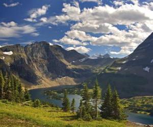 Rompicapo di Bella montagna paesaggio
