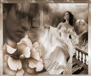 Rompicapo di Bella principessa con il suo amato principe pensiero