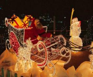 Rompicapo di Bella slitta di Natale piena di regali
