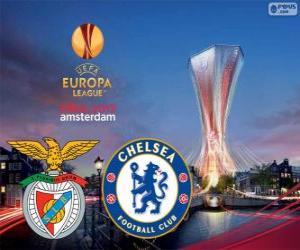 Rompicapo di Benfica vs Chelsea. Europa League 2012-2013 finale a l'Arena di Amsterdam, Paesi Bassi