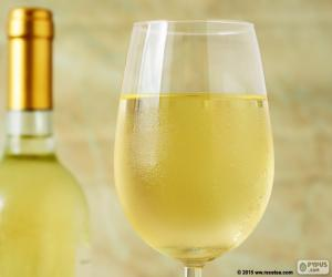 Rompicapo di Bicchiere di vino bianco