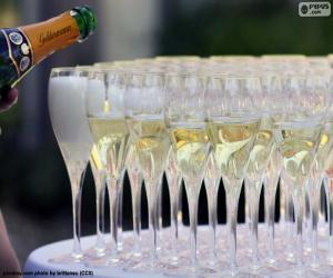 Rompicapo di Bicchieri di champagne