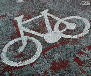 Rompicapo di Bici dipinta, segnale