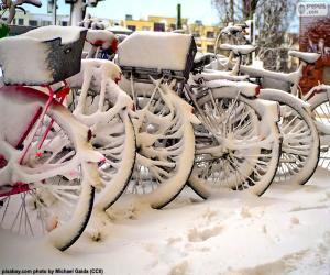 Rompicapo di Biciclette  in inverno