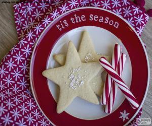 Rompicapo di Biscotti e canne di Natale