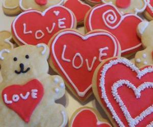 Rompicapo di Biscotti per celebrare il giorno di San Valentino